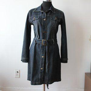 Vintage Lois Denim Button Up Dress